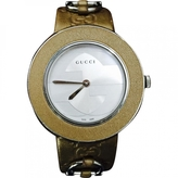 Gucci Gold Leather Watch
