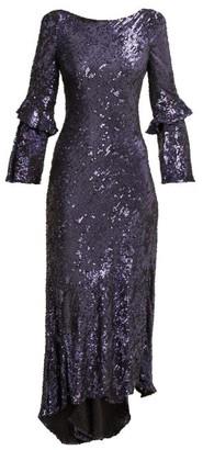 Maria Lucia Hohan Polina Sequinned Chiffon Dress - Blue