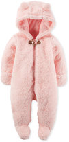 Carter's Baby Boys' or Baby Girls' Hooded Faux-Sherpa Footed Coverall