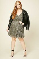 Forever 21 FOREVER 21+ Plus Size Metallic Cami Dress