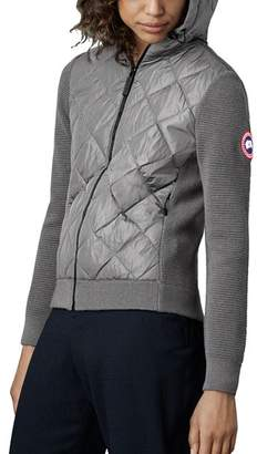 Canada Goose Hybridge Quilted Knit Hooded Jacket