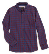 Quiksilver Boy's Phaser Setting Plaid Flannel Sport Shirt