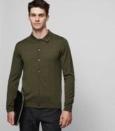 Reiss Eden - Wool Cardigan in Green, Mens