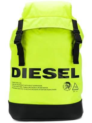 Diesel neon logo warning backpack
