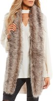 Jessica Simpson Adler Faux-Fur Sweater Vest