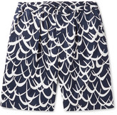 Marni Printed Cotton-Twill Shorts