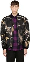 Alexander Wang Black Camo Bomber Jacket