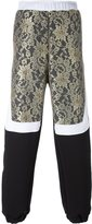Astrid Andersen - lace panel track pants - men - Cotton/Polyamide/Polyester/Rayon - M