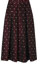 LK Bennett L.K.Bennett Grace Jacquard Skirt, Ruby