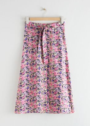 And other stories Buttoned Midi Skirt