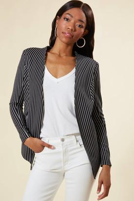 BCBGeneration Striped Tuxedo Blazer Black Multi XS
