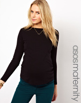 Asos Crew Neck Top With Long Sleeves