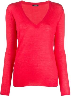 Joseph V-neck knitted top