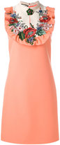 Gucci embroidered dress - women - Silk/Acetate/Wool - 40