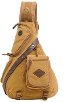 Oncefirst Men's Army Canvas Chest Sling Bag