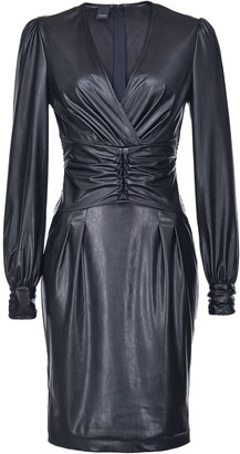 Pinko Textured Ruched Style Dress