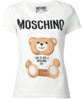 Moschino paper doll toy bear print t-shirt - women - Cotton - 46
