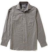 Daniel Cremieux Signature Big & Tall Long-Sleeve Heather Check Woven Shirt