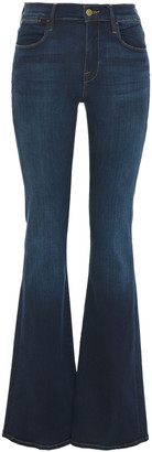Frame Le High Flare Faded High-rise Flared Jeans