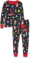 Hatley Little Boys' Organic Cotton Long Sleeve Printed Pajama Set