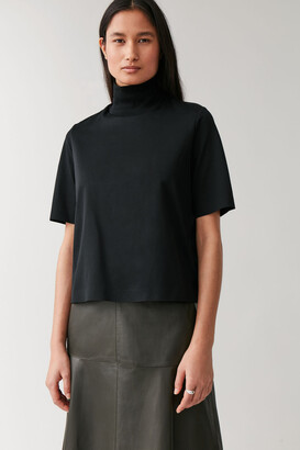 Cos Boxy Mock Neck Top