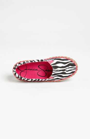 Jessica Simpson 'Makayla' Slip-On (Little Kid & Big Kid) Zebra Print 1 M