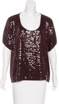 Robert Rodriguez Embellished Scoop Neck Top