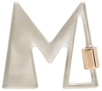 Marla Aaron 14kt gold M letter charm