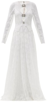 Christopher Kane Crystal-embellished Floral-tulle Dress - White