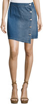 MinkPink Mink Pink Got the Blues Denim A-Line Mini Skirt, Medium Blue