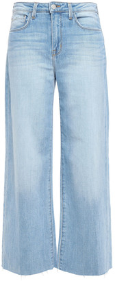 L'Agence Danica Frayed High-rise Wide-leg Jeans