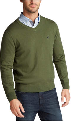 Nautica Men Lightweight Jersey V-Neck Sweater