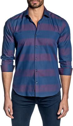 Jared Lang Men's Striped Long-Sleeve Sport Shirt