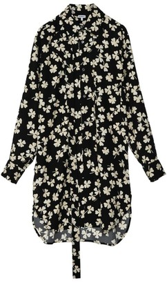 Loewe Shamrock Print Shirt Dress
