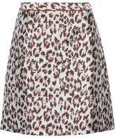 Christopher Kane Leopard-jacquard Mini Skirt - Leopard print