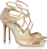 Jimmy Choo Lang Patent-leather Sandals - IT40.5