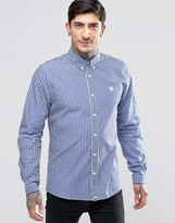 Pretty Green Shirt In Regular Fit In Gingham In Blue