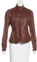 Tracy Reese Distressed Leather Jacket w/ Tags