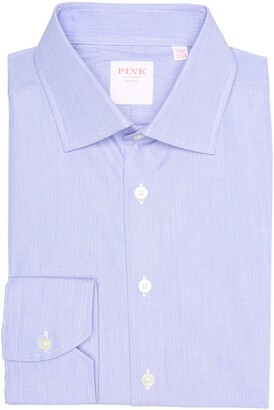 Thomas Pink Solid Tailored Fit Dress Shirt