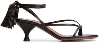 L'Autre Chose Strappy Low Heel Sandals