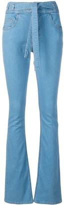 Victoria Victoria Beckham Tie Waist Flared Jeans