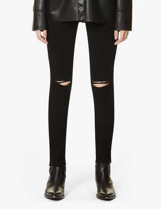 Paige Hoxton distressed skinny mid-rise jeans