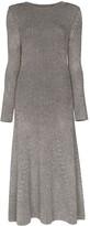 Mara Hoffman striped ribbed-knit midi dress