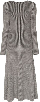 Mara Hoffman Striped Ribbed-Knit Midi Dress