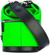 MSGM mini bucket bag - women - Cotton/Calf Leather/Polyester/Polyurethane - One Size