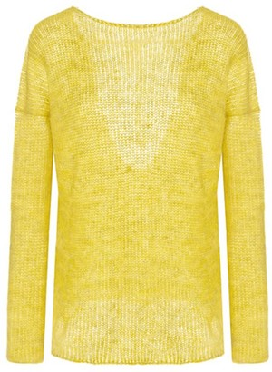 You By Tokarska Fog Blouse With A Necklline At The Back Yellow