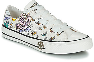 Converse CHUCK TAYLOR ALL STAR CAMP girls's Shoes (Trainers) in White