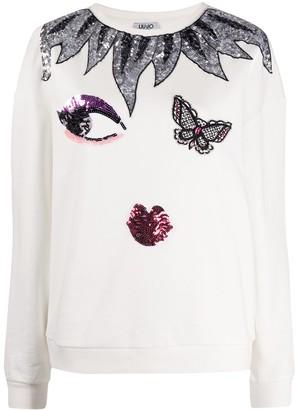 Liu Jo Embellished-Details Long-Sleeved Sweatshirt