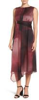 Nic+Zoe Print Silk Midi Dress