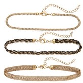 Women's Treasure & Bond Set Of Three Chain Chokers